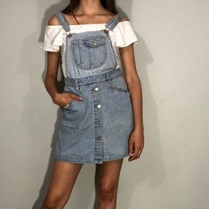 🌼NEW🌼 1990s button front skort overalls